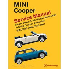 SERVMAN  MINI COOPER (CPR CPRS  JCW INC CLUBMAN CONVERT) 2007-2011 9780837616711, , scaau_hi-res
