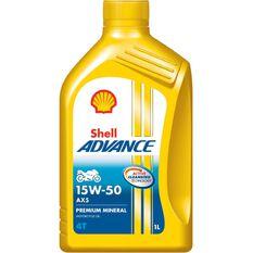 12 X SHELL ADVANCE 4T AX5 15W50 1L, , scaau_hi-res