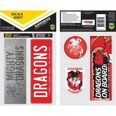 DRAGONS ITAG BUMPER DECALS - SET OF 5