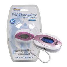 FM TRANSMITTER WHITE/PINK API89116 - DISCONTINUED ITEM