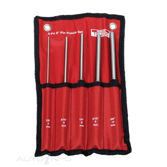 TOLEDO EXTRA LONG PIN PUNCH SET - 5 PC, , scaau_hi-res