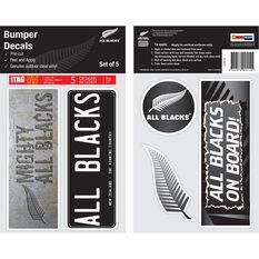 ALL BLACKS ITAG BUMPER DECALS - SET OF 5