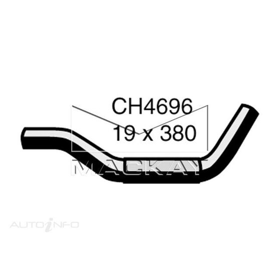 Heater Hose  - HOLDEN RODEO RA - 2.4L I4  PETROL - Manual & Auto, , scaau_hi-res