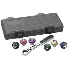 AUTO SPECIALTY - SOCKET SET MAGNETIC OIL DRAIN PLUG BLOWMOLD CASE 7PC