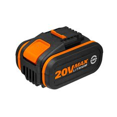 WORX 20V 4.0AH MAX LITHIUM-ION BATTERY WITH BATTERY CAPACITY INDICATOR, , scaau_hi-res