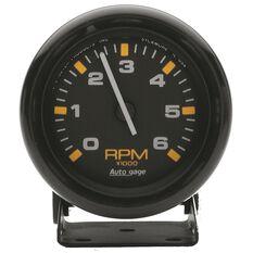 2-3/4 TACH, 6,000 RPM, MINI, BLACK
