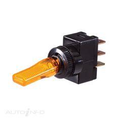 PLASTIC TOGGLE LED AMBER BL, , scaau_hi-res