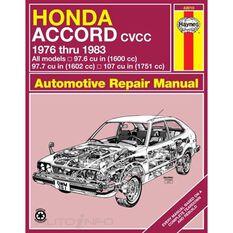 HONDA ACCORD CVCC HAYNES REPAIR MANUAL FROM 1976 THRU 1983, , scaau_hi-res
