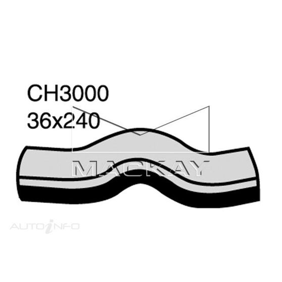 Radiator Lower Hose  -  HOLDEN JACKAROO U8 - 3.0L I4 Turbo DIESEL - Manual & Auto, , scaau_hi-res