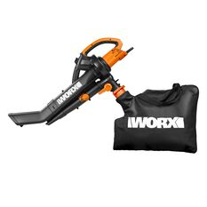 WORX ELECTRIC 3 IN 1 TRIVAC BLOWER (BLOWER, VACUUM & MULCHER WITH METAL IMPELLER), , scaau_hi-res