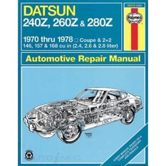 DATSUN Z-CAR HAYNES REPAIR MANUAL COVERING 240Z (1970 THRU 1973), 260Z (1974 THRU 1975) AND 280Z (1976 THRU 1978), , scaau_hi-res