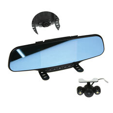 """2 IN 1 5"""" STRAP ON MIRROR DASH CAM AND REVERSE CAM"""