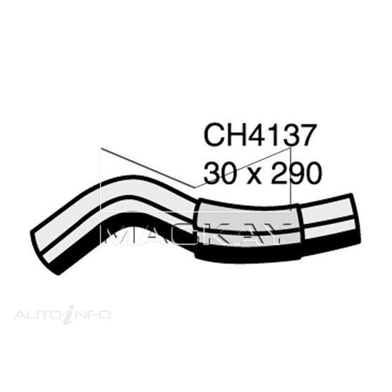 Radiator Upper Hose  - TOYOTA COROLLA CE110R - 2.0L I4  DIESEL - Manual & Auto, , scaau_hi-res