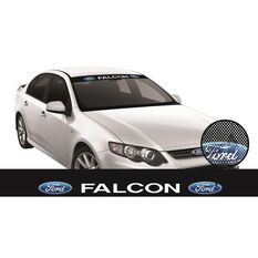 FORD ITAG SEE-THRU SUN VISOR (WHITE FALCON BLOCK ON BLACK), , scaau_hi-res