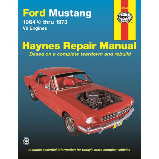 FORD MUSTANG HAYNES REPAIR MANUAL COVERING V-8 ENGINES FOR MUSTANG, MACH 1, GT, SHELBY, AND BOSS FOR 1964 1/2 THRU 1973, , scaau_hi-res