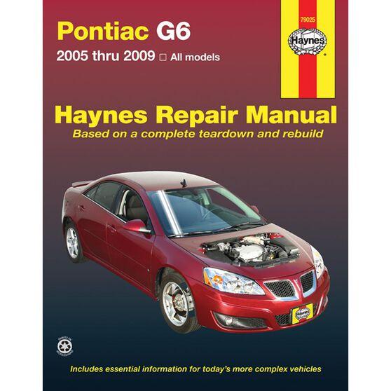 PONTIAC G6 HAYNES REPAIR MANUAL FOR 2005 THRU 2009, , scaau_hi-res