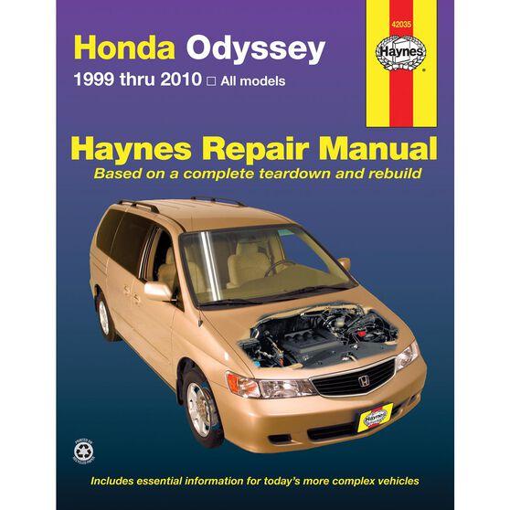 HONDA ODYSSEY HAYNES REPAIR MANUAL COVERING ALL MODELS FROM 1999 THRU 2010, , scaau_hi-res