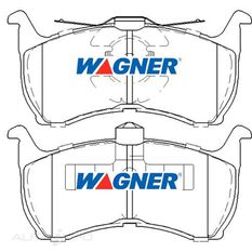 Wagner Brake pad [ Ford 1988-99 R ], , scaau_hi-res