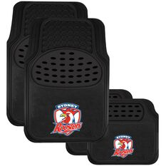 NRL CAR MATS SET OF 4 ROOSTERS, , scaau_hi-res
