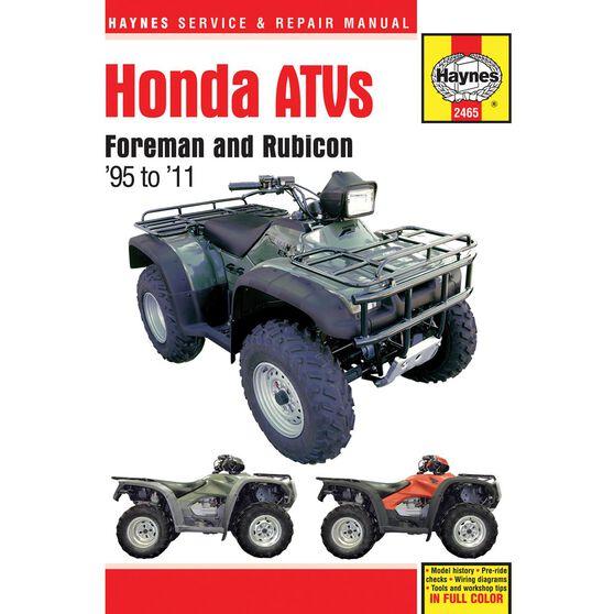 HONDA ATVS FOREMAN AND RUBICON 1995 - 2011, , scaau_hi-res