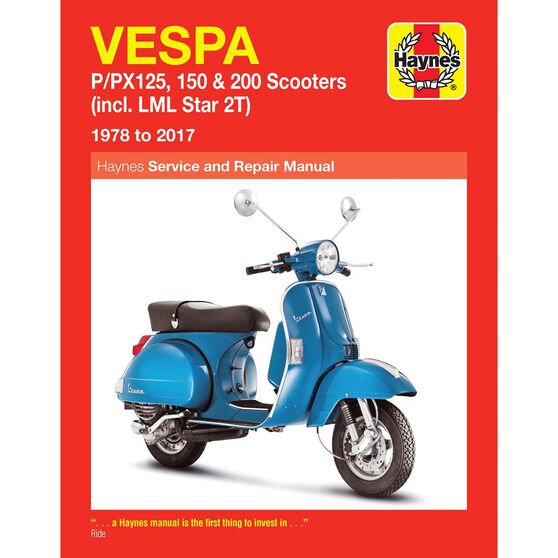 VESPA P/PX125, 150 & 200 SCOOTERS 1978 - 2014, , scaau_hi-res