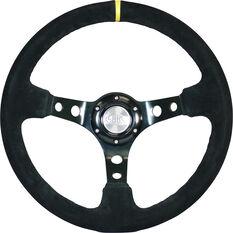 """Steering Wheel Suede 14"""" D.Dish Black Holes + Indicator, , scaau_hi-res"""