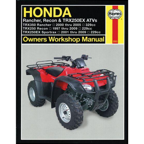 HONDA RANCHER, RECON & TRX250EX ATVS 1997 - 2009, , scaau_hi-res