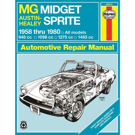 MG MIDGET AND AUSTIN-HEALY SPRITE HAYNES REPAIR MANUAL FOR 1958 THRU 1980 MODELS COVERED MG MIDGET 1500 ROADSTER (1974 THRU 1980), AUSTIN-HEALY (1958 THRU 1972) AND MG MIDGET (1961 THRU 1979), , scaau_hi-res