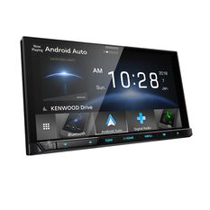 "KENWOOD AV RECEIVER 6.8"" DUAL DIN, HD SCREEN, CARPLAY, ANDROID AUTO, AIR MIRRORING, 200MM"