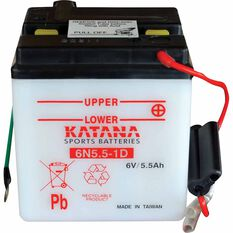 KATANA MOTORCYCLE BATTERY - 6N55-1D, , scaau_hi-res
