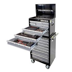 TOOL SET 211PC - 7 DRAWER ROLLER CABINET + 8 DRAWER DEEP CHEST + 209PC TOOL SET