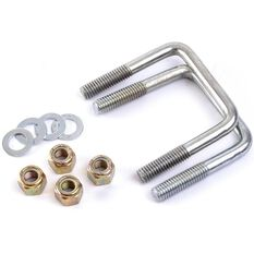 JOCKEY WHEEL  U-BOLT SET, SUIT DRAW BAR 75 X 50
