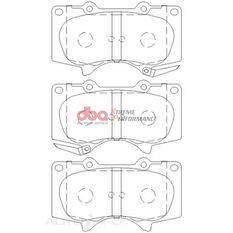DBA XP PERFORMANCE BRAKE PADS LEXUS/MITSUBISHI & TOYOTA 2003-2014 FRONT