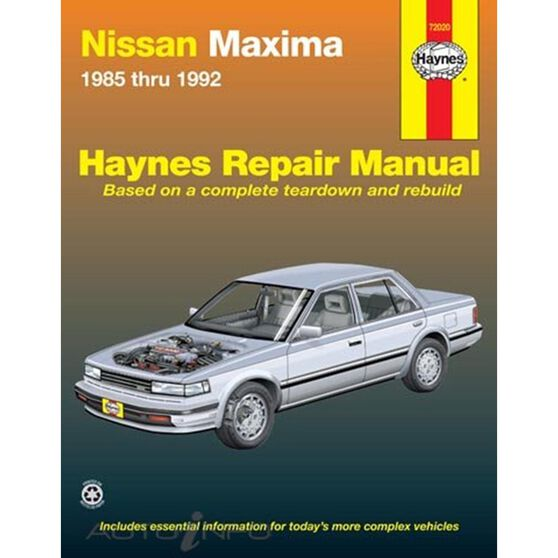 NISSAN MAXIMA HAYNES REPAIR MANUAL FOR 1985 THRU 1992 COVERING ALL MODELS, , scaau_hi-res