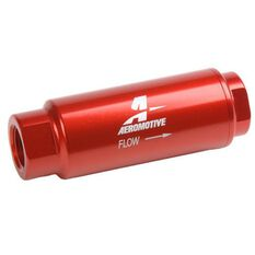 "SS SERIES INLINE FUEL FILTER 3/8"" NPT 40 MIC. 3.5"" X 1.25"", , scaau_hi-res"