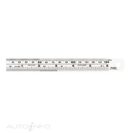 TOLEDO S/STEEL RULE 150MM/6IN, , scaau_hi-res