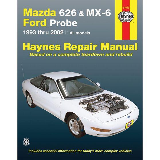 MAZDA 626, MX-6 & FORD PROBE HAYNES REPAIR MANUAL COVERING  MAZDA 626 (1993 THRU 2002), MAZDA MX-6 & FORD PROBE (1993 THRU 1997), , scaau_hi-res