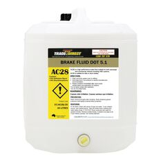 Brake Fluid: DOT 5.1 - 20L Plastic Cube (Fluid Colour: Amber), , scaau_hi-res