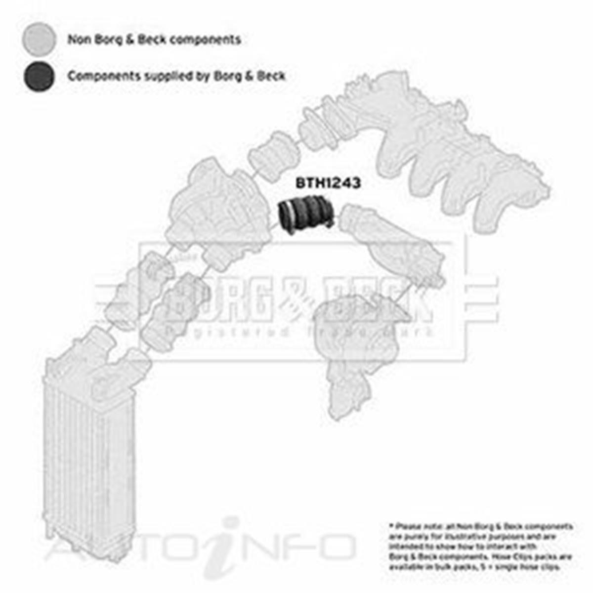 BORG /& BECK BTH1243 TURBO HOSE fit PSA 1.6HDi 2007