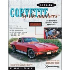 PARTSREF  CORVETTE BY THE NUMBERS 1955-1982 9780837602882, , scaau_hi-res