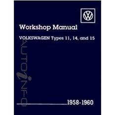 WSHOPMAN  VW 1958-1960 TYPES 11  14&15   9780837603926
