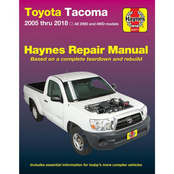 TOYOTA TACOMA HAYNES REPAIR MANUAL COVERING ALL MODELS FOR 2005-2011, , scaau_hi-res