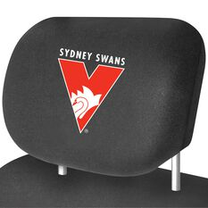 AFL CAR HEAD REST COVER - PAIR SWANS, , scaau_hi-res