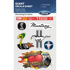 FORD MUSTANG AND COBRA GIANT ITAG DECALS SHEET