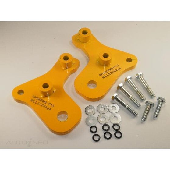 4WD - HD TOW POINT 70 SERIES LANDCRUISER EXTENDED TO SUIT FOR BASH PLATE (76/78/79 SERIES) (WILL NOT SUIT 75 SERIES) - PAIR, , scaau_hi-res
