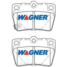 Wagner Brake pad [ Chery & Toyota 1994-2010 R ], , scaau_hi-res