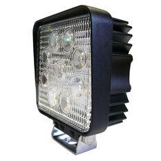 27W LED SQUARE WORK LIGHT10-30V - FLOOD BEAM 60 DEG.