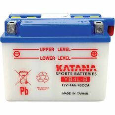 KATANA MOTORCYCLE BATTERY - YB4L-B, , scaau_hi-res