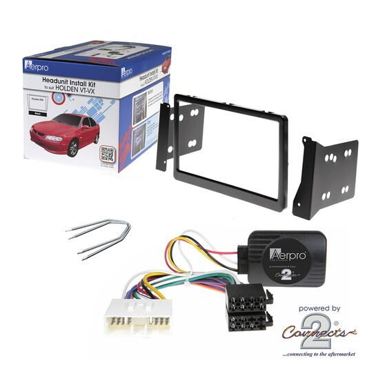 INSTALL KIT TO SUIT HOLDEN COMMODORE VT SERIES I, II; VX SERIES I, II & VU (BLACK), , scaau_hi-res