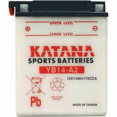 KATANA MOTORCYCLE BATTERY - YB14-A2, , scaau_hi-res